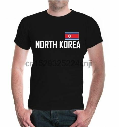 Herren Unisex Kurzarm T-shirt Nordkorea Nordkorea Asien Asien Reise Flagge Flagge