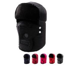 Women Men Climbing/Skiing Cap Outdoor Fur All Cover Windproof Thermal Hat 5 Colors Unisex Earflap Bo
