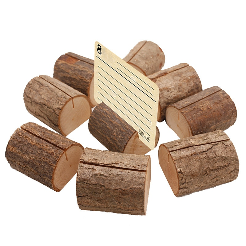 1pcs/lot New Big Natural Wood Stump Wedding Party Creative Decoration Card Holder Stand Photo Clips