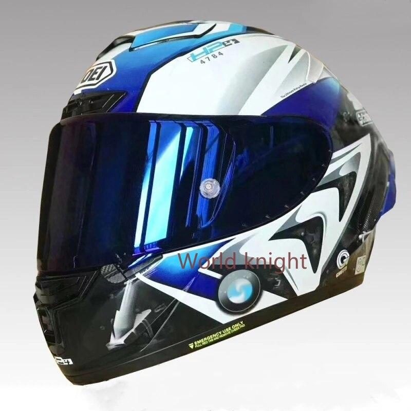 كامل الوجه دراجة نارية خوذة X14 Blue-HP4 خوذة موتوكروس سباق موتوبايك ركوب خوذة كاسكو دي موتوسيكل