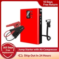 4 in 1 car jump starter air compressor portable tire inflator pump 12v power bank car battery booster charger starting device