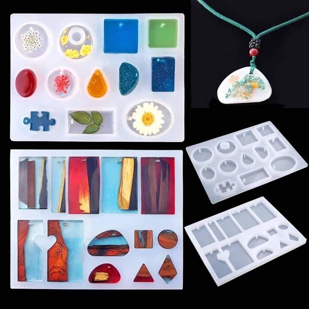 127 Uds Set arte alto adhesivo cristal pegamento molde mixto endurecedor accesorios herramienta fabricación de joyería DIY resina silicona disolvente transparente