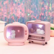 Ins copines chambre coeur avec Starlight, veilleuse et TV lampe moulage résine