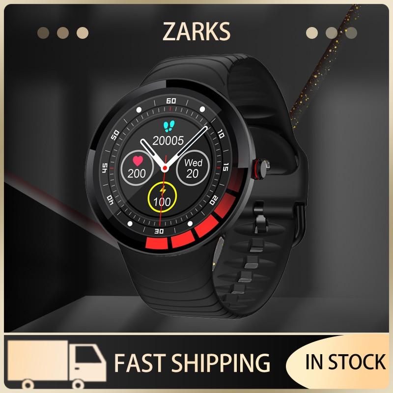 ZARKS الرجال ساعة ذكية E3 الرياضة IP68 مقاوم للماء كامل شاشة تعمل باللمس جهاز تعقب للياقة البدنية الطقس عرض SmartWatch ل IOS أندرويد