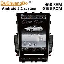 Ouchuangbo PX6 안드로이드 8.1 라디오 gps 레코더 12.1 인치 테슬라 스타일 인피니티 Q50 Q50L Q60s 오디오 스테레오 헤드 유닛 4GB + 64GB