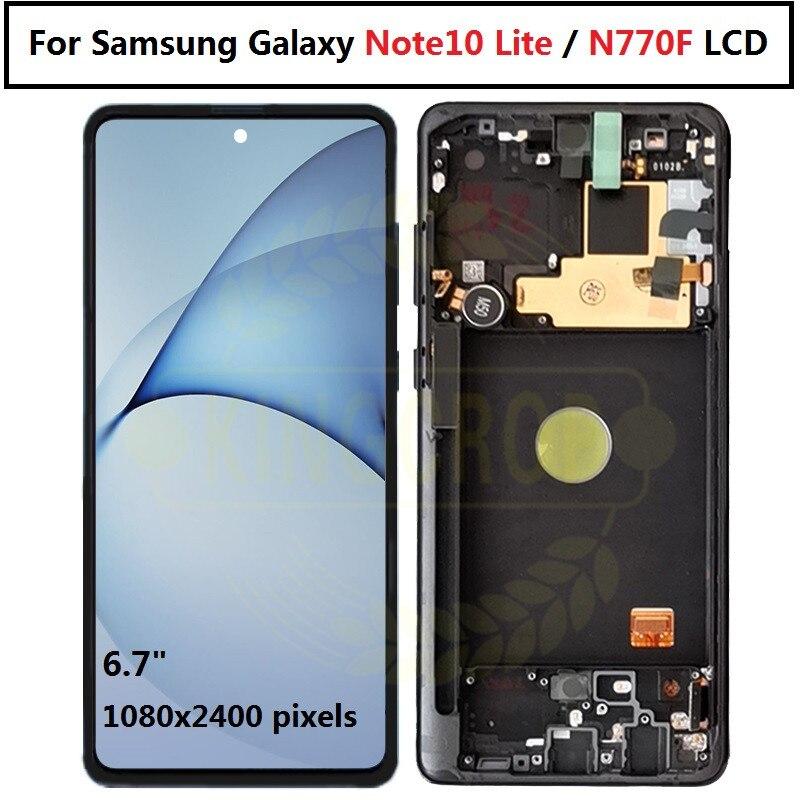 Para Samsung Galaxy Nota 10 lite Lcd N770F/DS N770F/DSM con pantalla de marco de Digitalizador de pantalla táctil para Samsung note10 lite N770