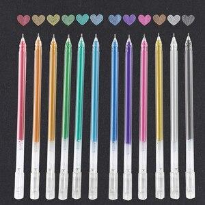 12Colors Cute METALLIC Color For Drawing Scrapbooking Album Tools DIY StationerySchool Art supplies белая ручка Rotuladores