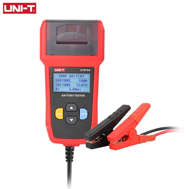 Устройство для проверки автомобильного аккумулятора, 12 В, 24 В постоянного тока, анализатор заряда UT673A, UT675A, тестер емкости нагрузки, система ...