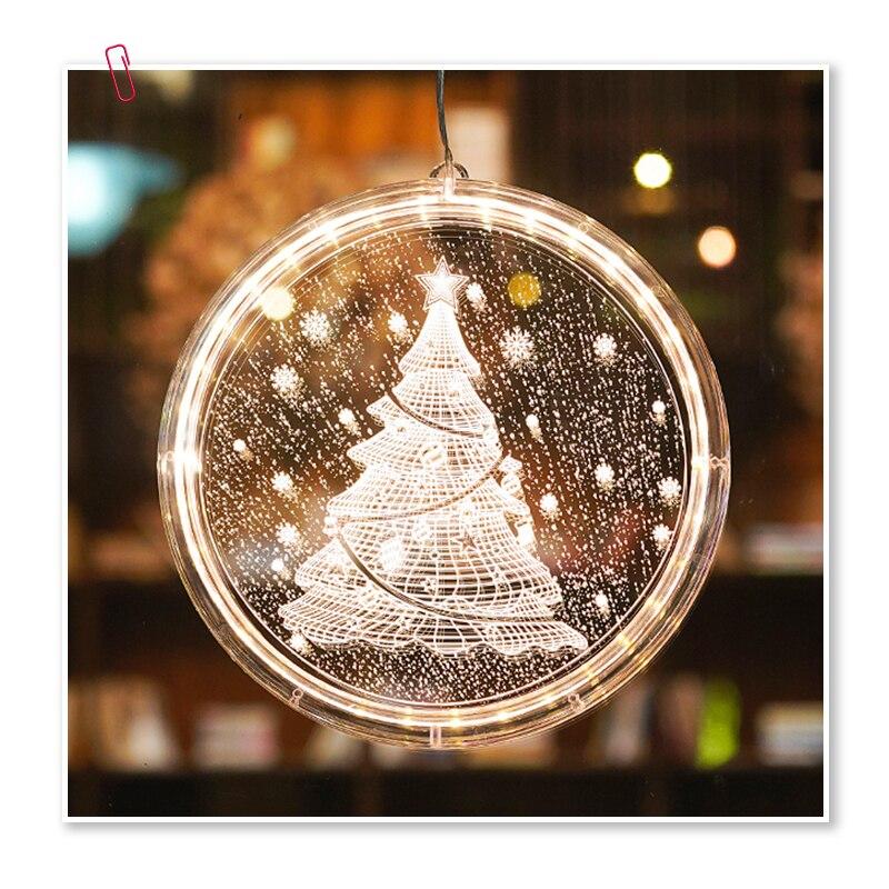 Christmas Decorative Battery Acrylic Sucker Hang Light