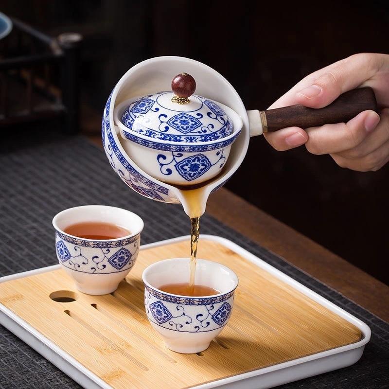 Керамический чайник с деревянной ручкой, чайник с боковой ручкой, домашний чайник с фильтром кунг-фу Улун, чайник, креативная керамика, чайная посуда для приготовления чая