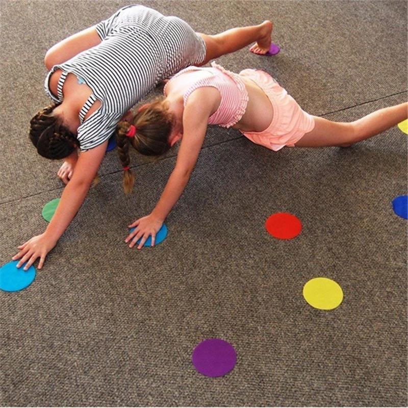 Sentado Tapete Manchas Marcadores Nylon Magia Adesivo Dots para Preschool Educacional do jardim de Infância
