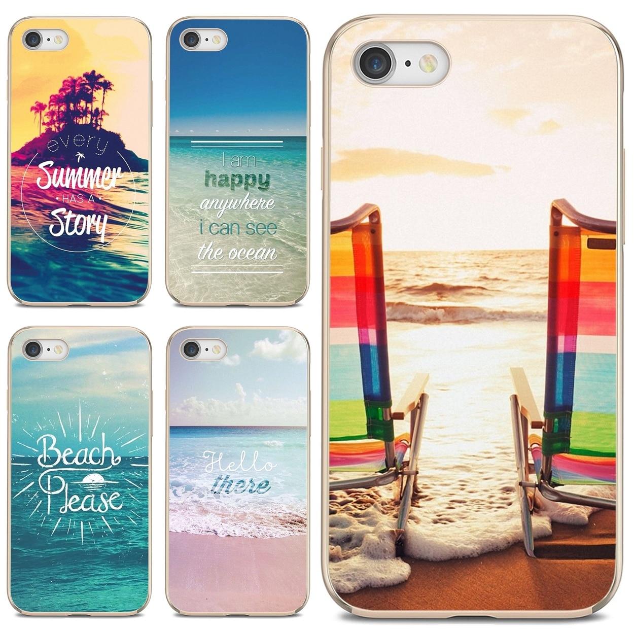 Suave cubierta de la caja de la playa-por favor-verano para Samsung Galaxy...