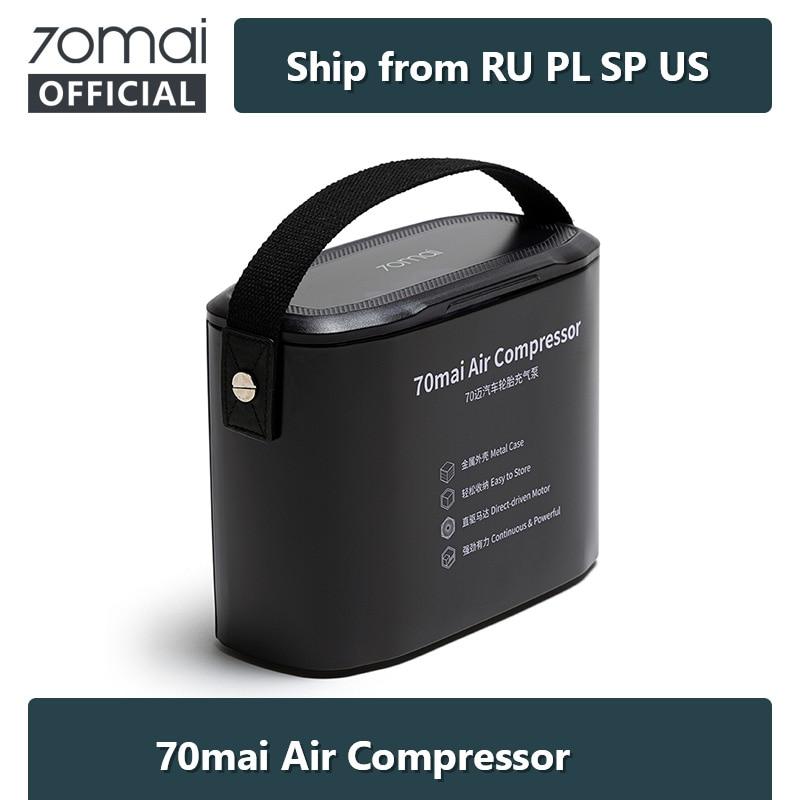 70mai Luft Kompressor 12V Digitale Tragbare Pumpe mit LED Reifen Daten 70 MAI Auto Luftpumpe mit Metall Box bicyles Auto Reifen Inflator
