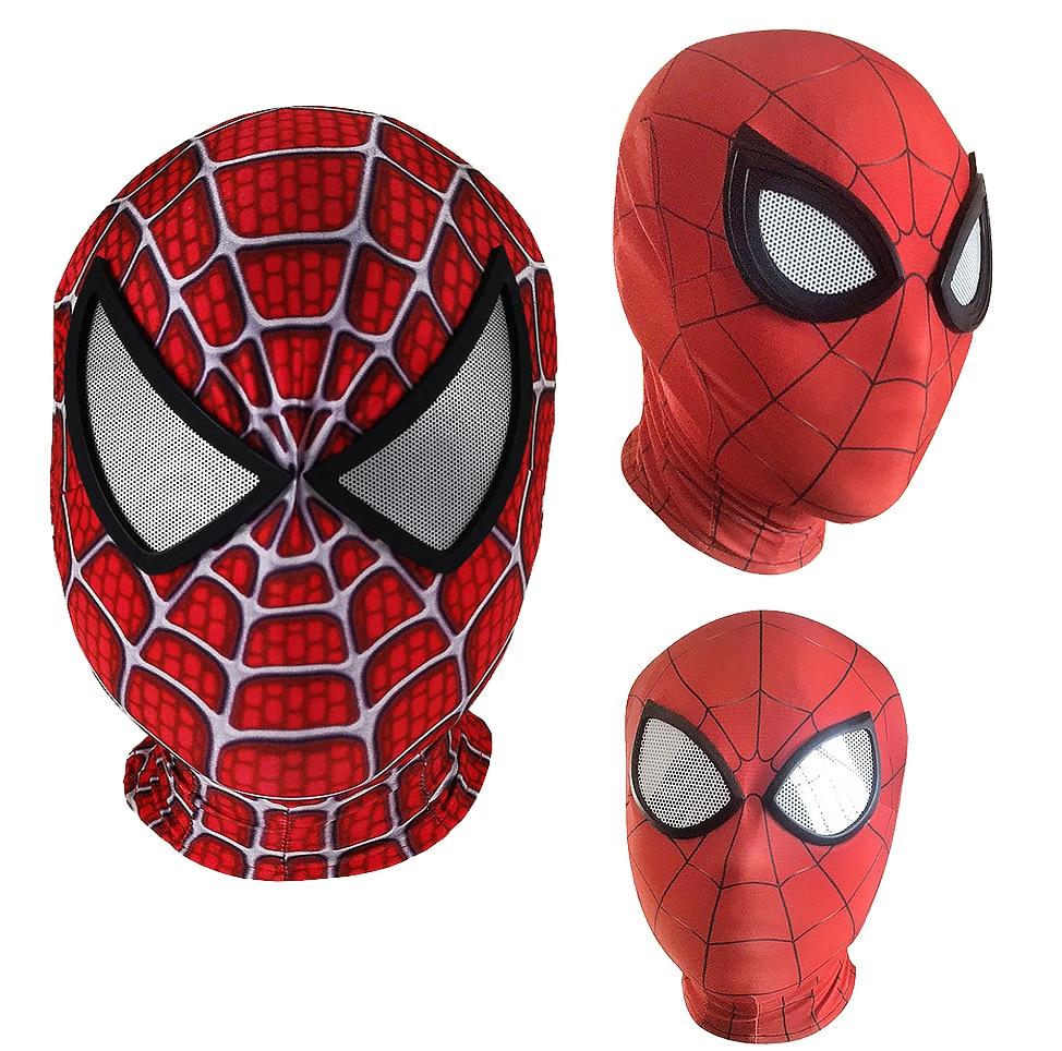 3D Raimi Spiderman/Far From Home/Into the Spider-Verse/Masks superhero Iron Spider Man Cosplay Costumes Mask Superhero Halloween