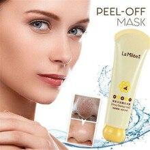 Miel déchirement masque Peel masque contrôle de lhuile indolore points noirs dissolvant décoller masque peau morte dissolvant propre Pores rétrécissement soins du visage