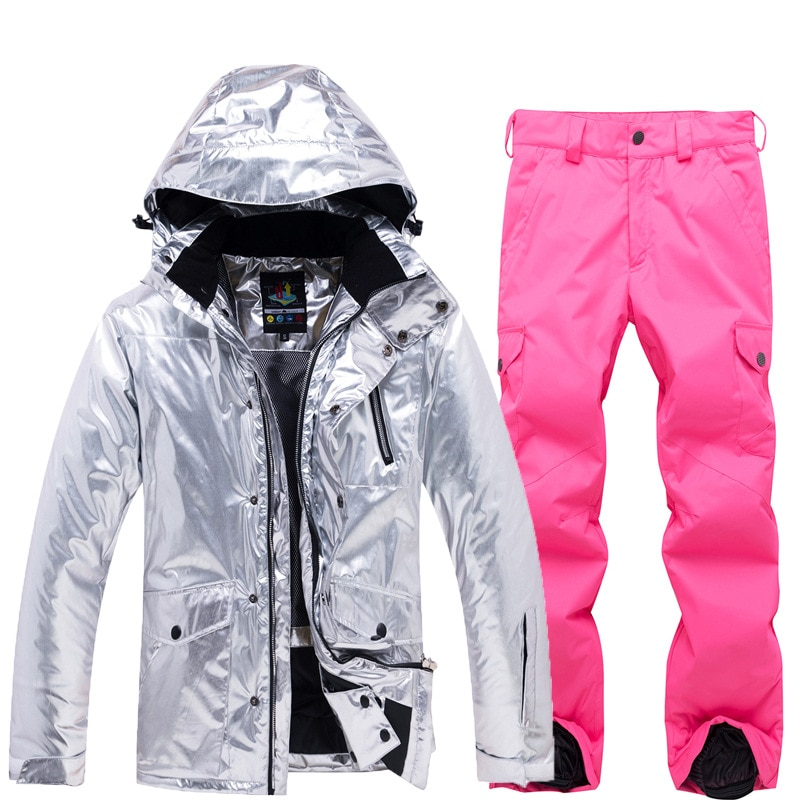 Winter Waterproof Women Skiing Suits Hoodies Jacket Overalls Woman Snow Sets Snowboarding Female Sport Costume Ladies Clothes