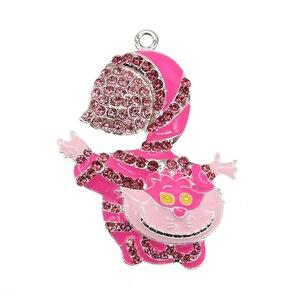 10pcs/lot  Fashion Jewelry Enamel Rhinestone Hat Shape Pendant For Necklace