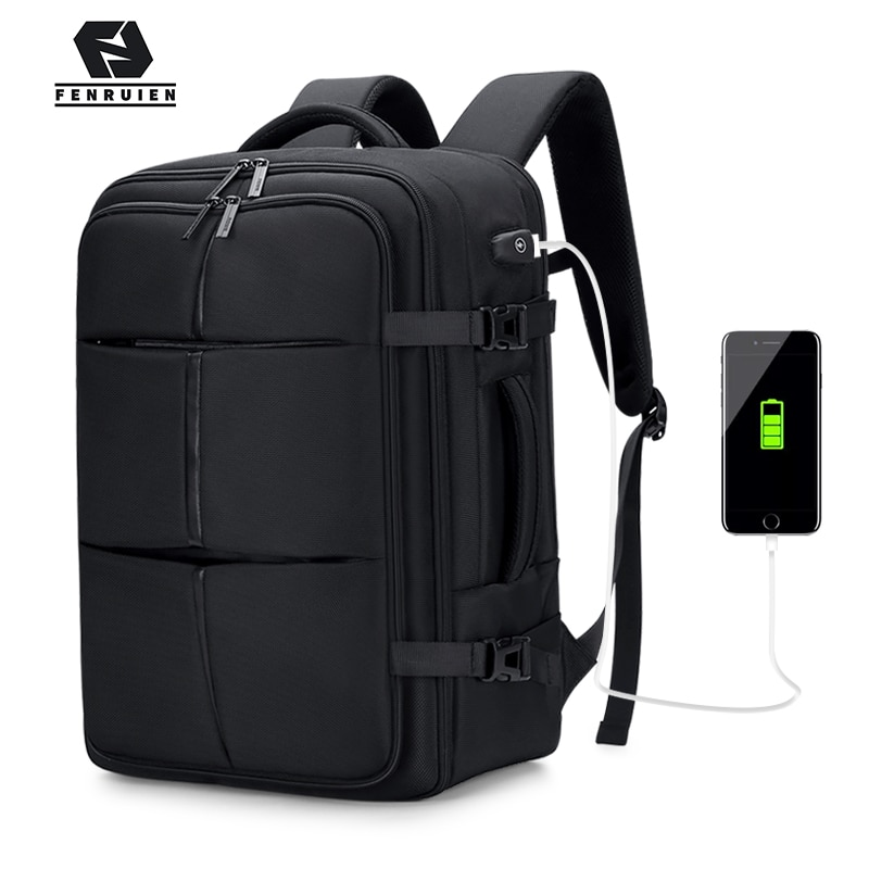 chunixco men backpack 15 6 inch laptop bag multifunctional man usb charging travel backpacks male bag anti thief mochila Fenruien Upgrade Men Backpack 17.3 Inch Laptop Backpacks USB Charging Waterproof Multilayer Large capacity Travel Bag Anti-thief