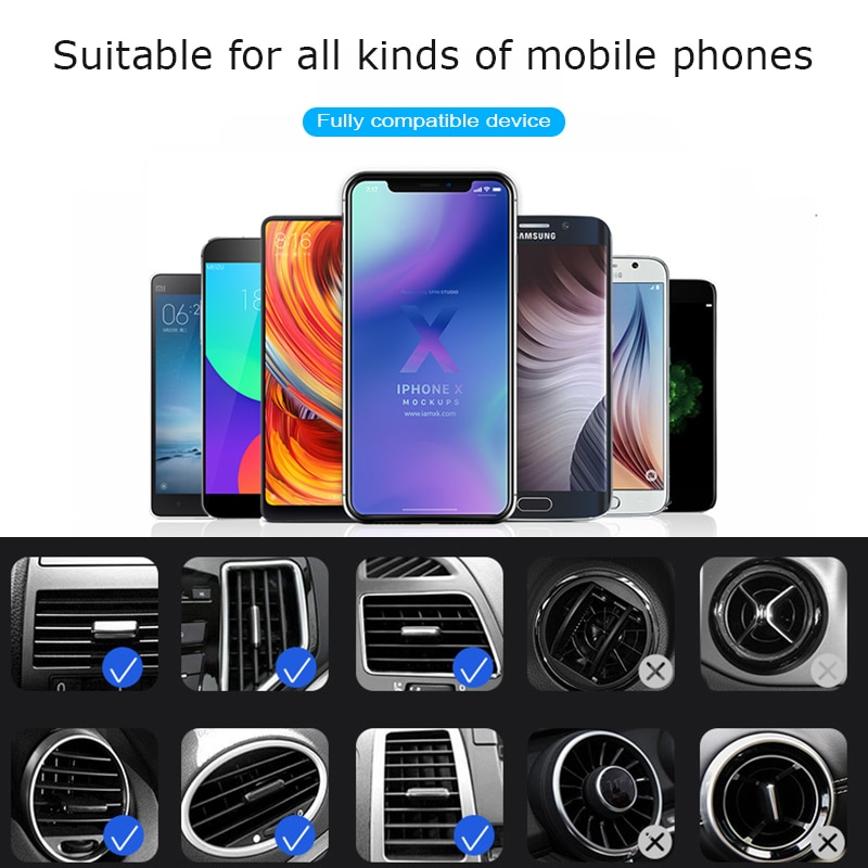 Universal Car Phone Holder Mobile Air Vent Mount Stand for Car Holder Phone Stand Steady Fixed Bracket Support Gravity sensing  - buy with discount