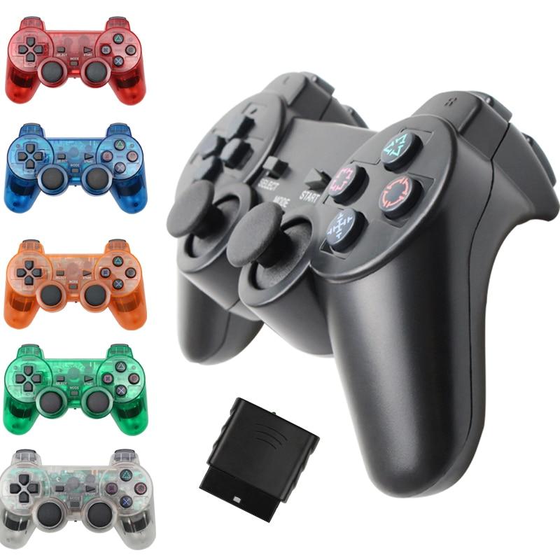 Gamepad inalámbrico para Sony PS2 controlador para Playstation 2 consola Joystick doble vibración Shock Joypad control inalámbrico