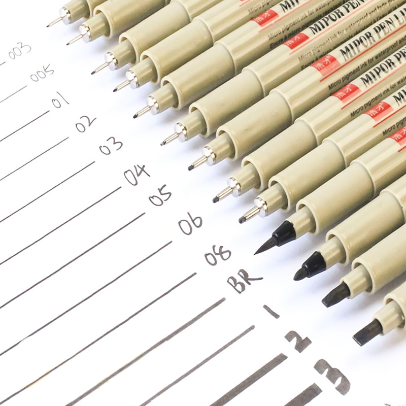 AliExpress - 1 Pcs Balck Pigma Micron Pen Liners For Drawing Needle Sketching Markers Fineliner Comic Art  School Stationery Supplies 2021