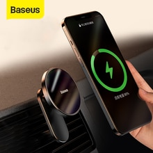 Baseus Magnetic Car Wireless Charger for iPhone 12 Pro Max Wireless Charging Car Charger Phone Holde