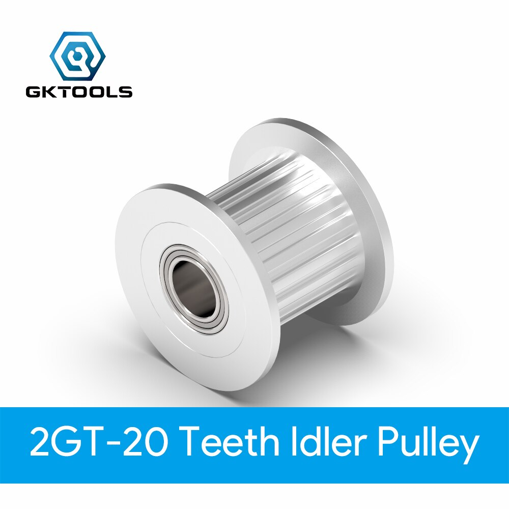 2GT 20 Teeth synchronous Wheel Idler Pulley black Bore 3mm 4mm 5mm without Bearing for GT2 Timing belt Width 10mm 20teeth 20T