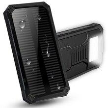 아이폰에 대 한 30000mAh 태양 전원 은행 삼성 Xiaomi Powerbank 휴대용 충전기 외부 배터리 듀얼 USB Poverbank 빛