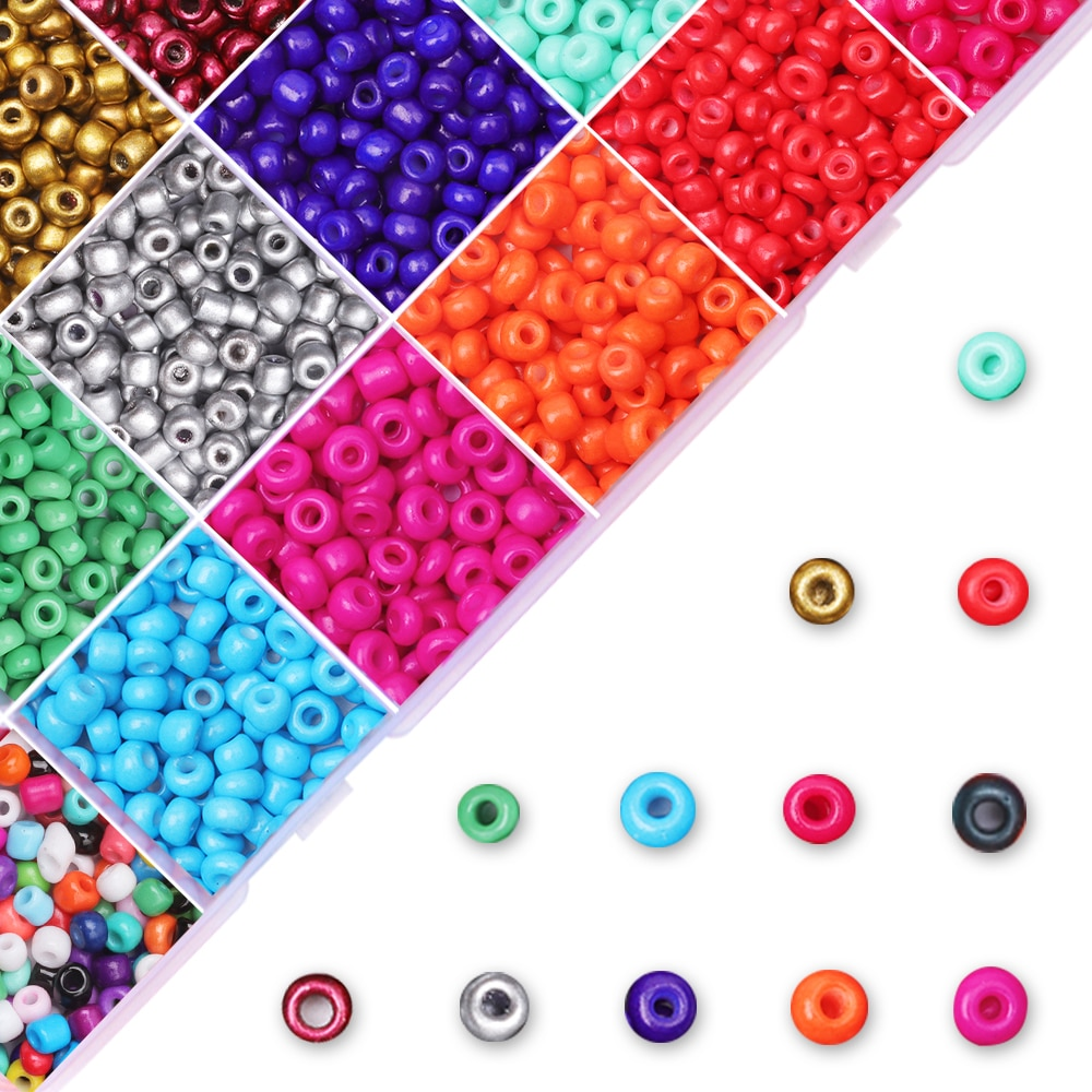 720pcs lot 2mm austria opaque round hole glass bead solid color czech glass seed spacer diy beads for kids jewelry making decor Glass Seed Beads 2/3/4mm Charm Czech Round Hole Mix Color Spacer Beads For DIY Bracelet Earring  Necklace Jewelry Making
