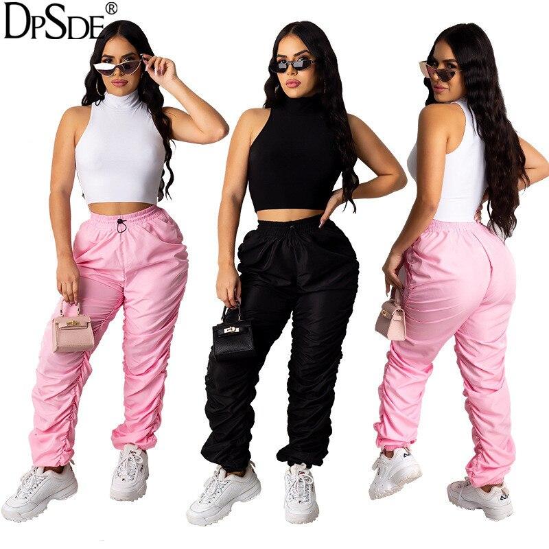 Lato kobiety 2020 casual styl ruchu bez rękawów top krótki top elastyczne kieszenie długie spodnie pure color zestawy dwuczęściowe