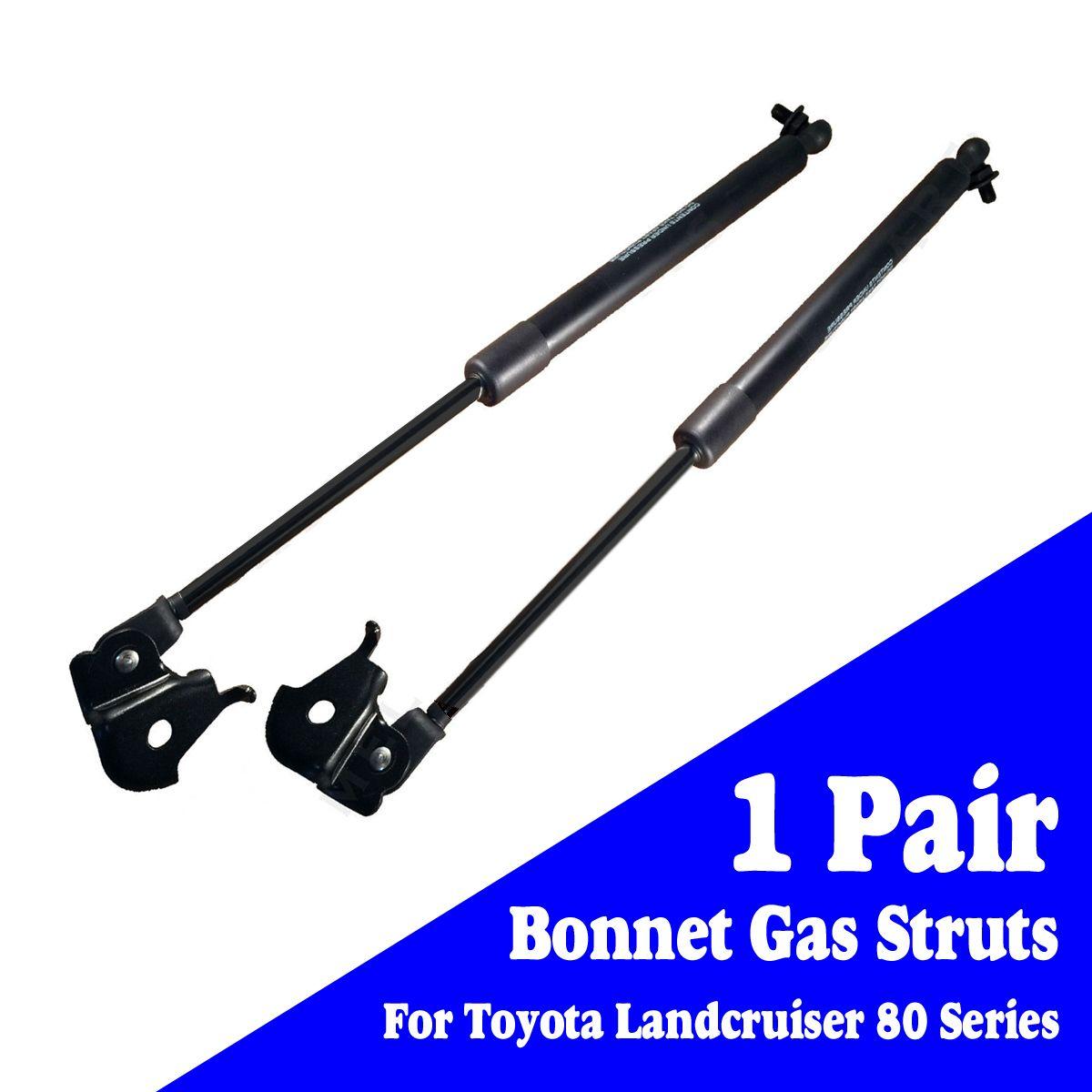 2 stücke Schwarz Stahl Vorderen Haube Gas Streben Schock Haube Lift Unterstützung für Toyota Landcruiser 80 Serie 1990-1997 aufzüge