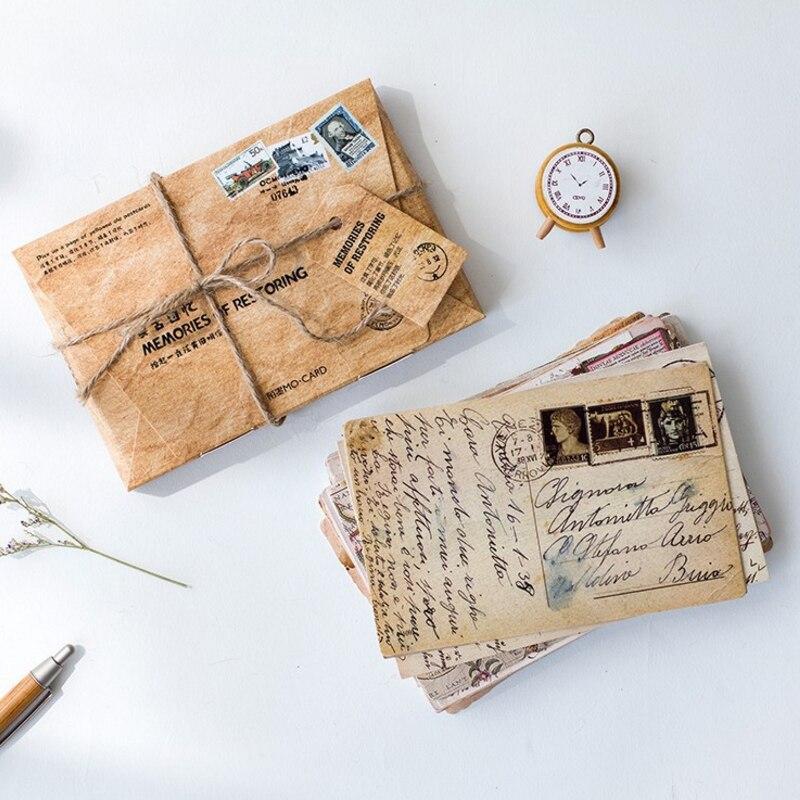 30 шт./лот оригинальные открытки в винтажном европейском стиле деловые и поздравительные открытки фоновые открытки школьные принадлежности