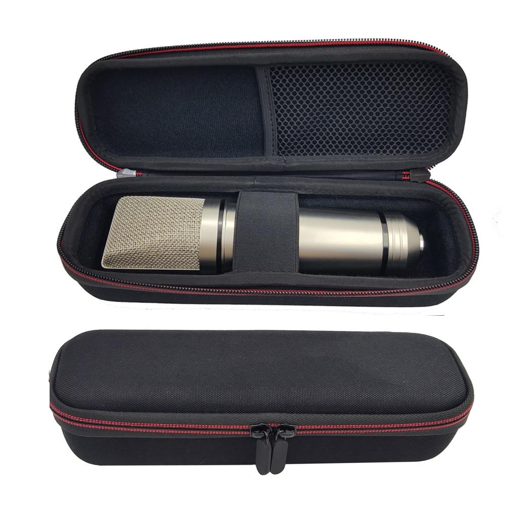Black Hard Eva Frosted Drawstring Condenser Mi Storage Box Protective Bag Shockproof Travel Portable