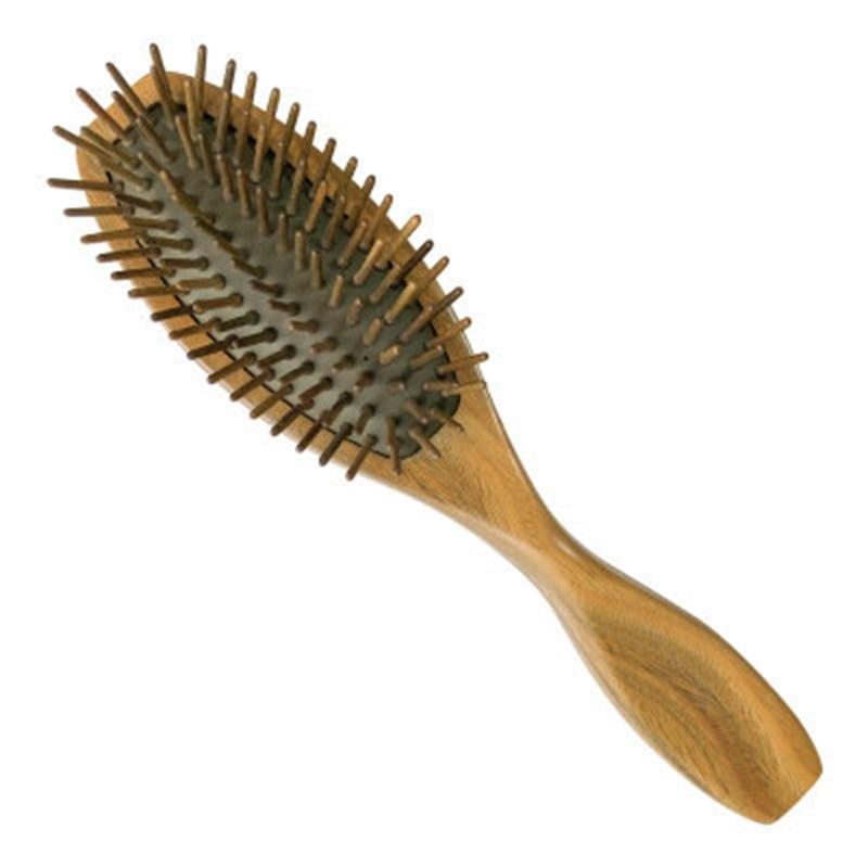 Peines de Sándalo Verde profesionales para el cuidado del cabello, cepillo de Airbag para desenredar el pelo largo, cepillo antiestático para masaje saludable