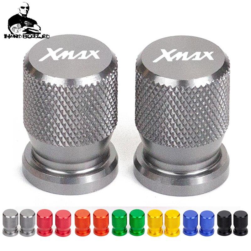 Para YAMAHA XMAX 250 300 400 X MAX, accesorios para motocicleta, tapas de válvula de neumático de rueda, cubiertas herméticas de aluminio CNC