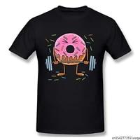 funny donut weightlifting for men bodybuilder fitness instructor tshirt man t shirt