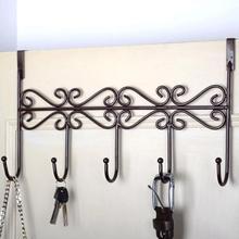 Metalen Haken Home Keuken Kanteldeur Hanger Tas Kleren Sleutel Sjaal Opknoping Rack Houder Organizer 5 Haken Opslag Plank Prateleira