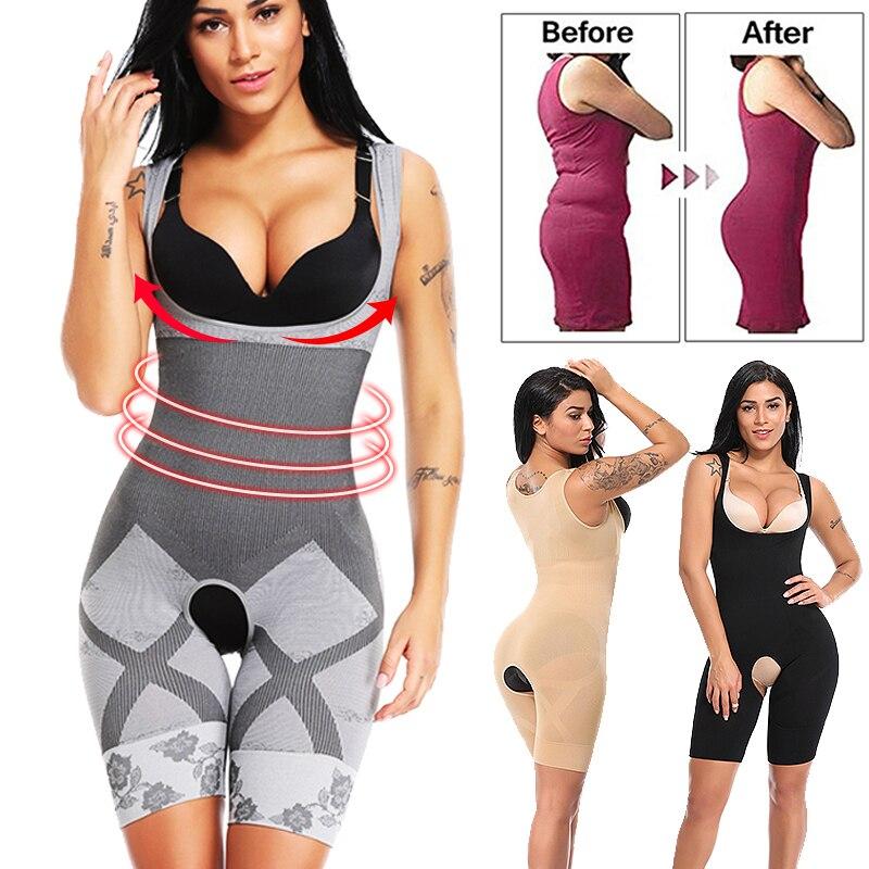 Prenda modeladora de cuerpo completo adelgazante cinturón modelador de cintura levantador de glúteos bragas Control PushUp Shapewear Corset Briefs mujeres ropa interior