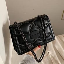 Vintage petit Rivet rabat chaîne épaule messager sacs à bandoulière femmes sacs à main mode dames pochette fourre-tout décontractés femme sac à main