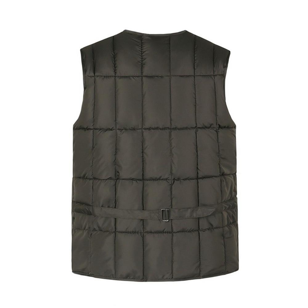 Cotton Vest For Men With Many Pockets Winter Thick Warm Multi Pocket Waistcoat Male Windbreaker Snow Padded Sleeveless Jacket