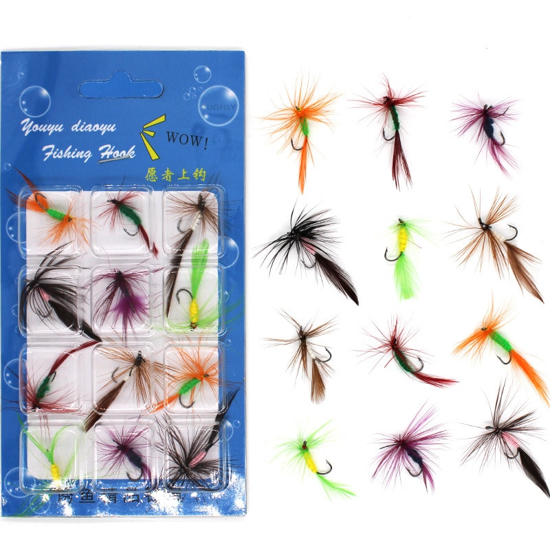 Flies Trout Single Dry Fly Fishing Lures Fishing Tackle Carp Bait 12Pcs/Set Fishing Lure Fly Insects Different Style Salmon beau beasley fly fishing virginia
