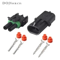 51020sets 2 pin waterproof electrical connector male female plug motorcycle delphi injector socket 12010973 12015792 for gm