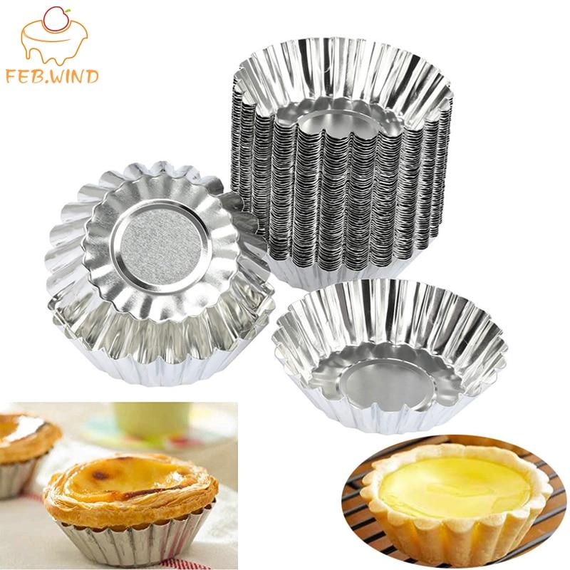 4 pacotes mini molde de torta de ovo canelada/lata pudim molde geléia pan pequena liga de alumínio abacaxi tart molde/formulário 653