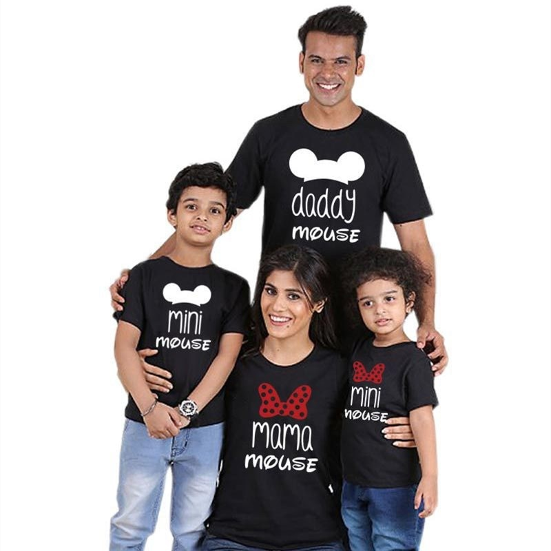 Rodzina-ropa familiar para el Día del padre, camiseta de minnie mouse