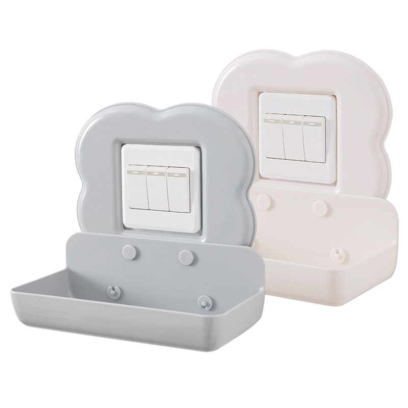 Soporte de carga para teléfono móvil, esponja de trapo Tipo Adhesivo, accesorios de cocina para baño, interruptor tipo cremallera, adhesivo, gancho de pared colgante de almacenamiento