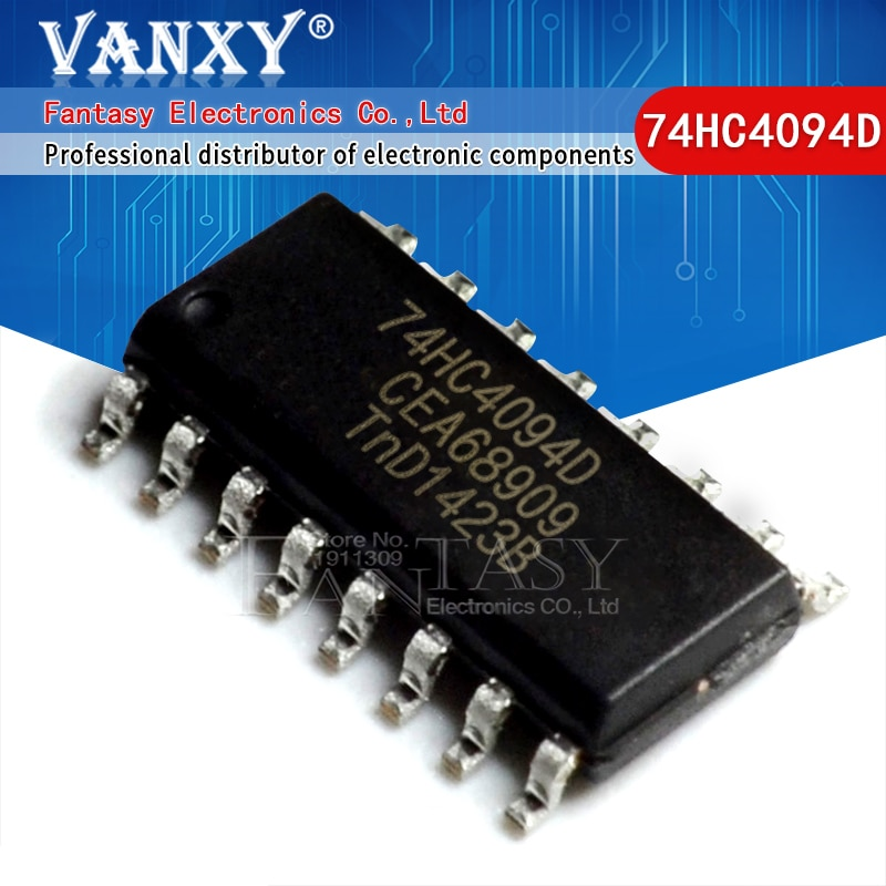 10 Uds 74HC4094D SOP16 74HC4094 SOP-16 SN74HC4094DR SOP lógica-Registro de desplazamiento