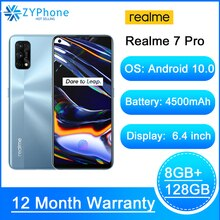 "Realme 7 Pro 6.4 ""'FHD + 8GB 128GB Smartphone 65W SuperDart Ladung 10V/6,5 EINE 64MP Vollbild Octa Core 4500mAh Mobilen Anruf Telefon 7 Handys    -"