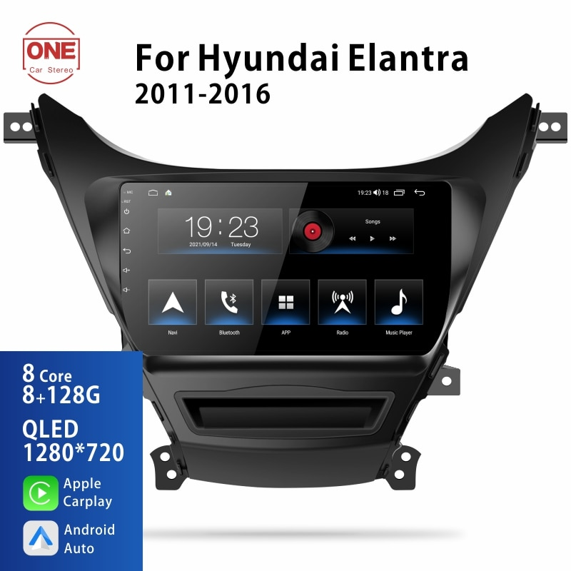 OneCarStereo Android 10 2 Din For Hyundai Elantra 2010-2016 Car Radio Multimedia Stereo Video Player Navigation Dvd