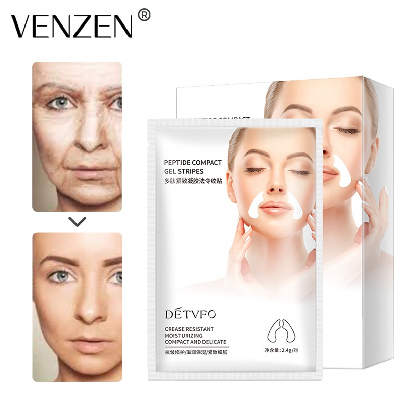 Polypeptide Gel Nasolabial Fold Patch Wrinkles Fade Anti-wrinkle Firming Collagen Gel Law Pattern Sticker Deep Skin Care