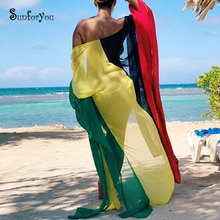 2020 Chiffon Beach Cover up Dress Robe de Plage Bathing suit cover ups Pareos de Playa Mujer Bikini Cover up Beachwear Tunic